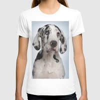 great dane T-shirts featuring Great dane by Life on White Creative