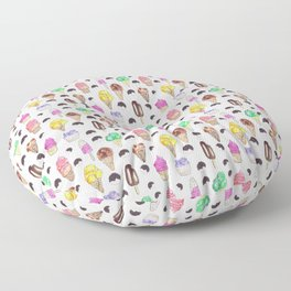 Ice Cream Flavors Floor Pillow