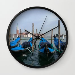 Gondola in  Venice Italy Wall Clock