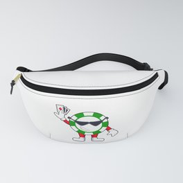 Poker chip with Poker cards Fanny Pack