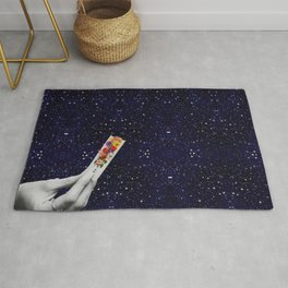 Rolling Flower in Space Rug