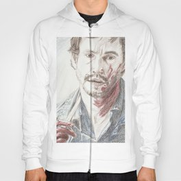 Bloody Will Graham, original colored pencil drawing Hoody