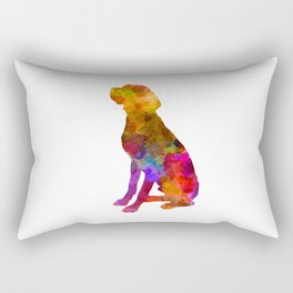 French Pointer in watercolor Rectangular Pillow