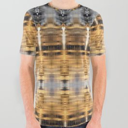 Golden River Abstract Totem Refections All Over Graphic Tee