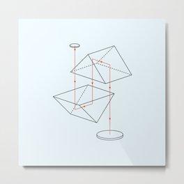 Prisms & Lenses - Binocular Metal Print