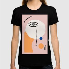 Abstract Art, Line Portrait, Matisse Picasso Style, Neutral Red Abstract Print, Line Drawing, Line D T-shirt