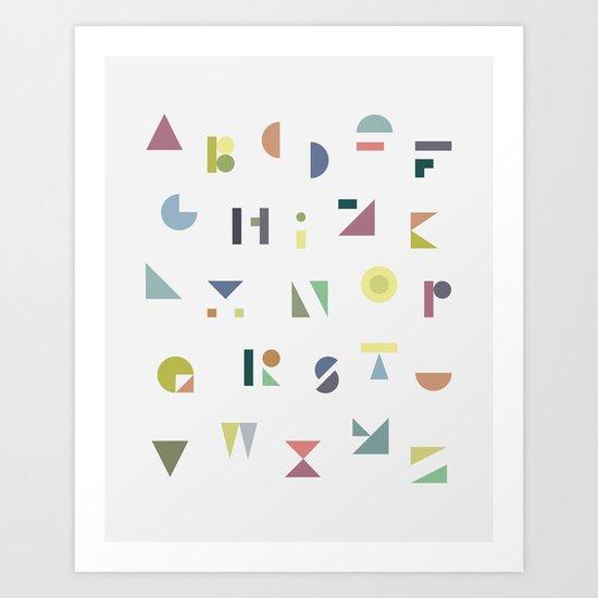 ABC colorful Art Print