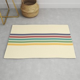 Minimal Abstract Retro Stripes 70s Style - Chichi Rug