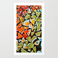 mosaic Art Prints featuring Mosaic by Maggie Dylan