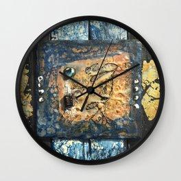 Nemesis - Mixed Media Beeswax Encaustic Abstract Modern Art, 2015 Wall Clock