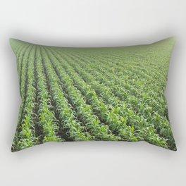 Pattern in green Rectangular Pillow