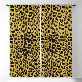 Leopard Ceylon Yellow Blackout Curtain