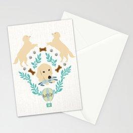 Cute Golden Retriever Stationery Cards
