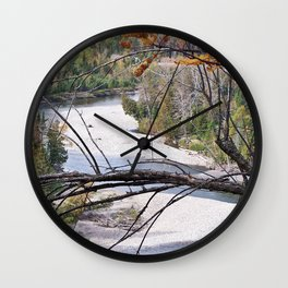 Overlooking the River Wall Clock