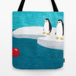 The Adventures of Red Ball - At the South Pole. Tote Bag