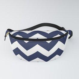 Navy Blue Chevron Minimal Fanny Pack