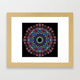 LED Hoop Mandala w/ Fire Framed Art Print
