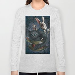 The Cheshire Cat and his friends Long Sleeve T-shirt