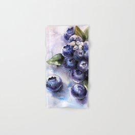 Watercolor Blueberries - Food Art Hand & Bath Towel