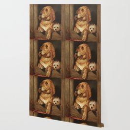 Dignity and Impudence by Sir Edwin Landseer (1877) Landseers dog painting of a bloodhound and a terr Wallpaper