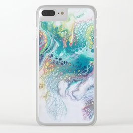 Whispy feather Clear iPhone Case