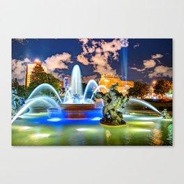 Kansas City J.C. Nichols Fountain in the Plaza Canvas Print