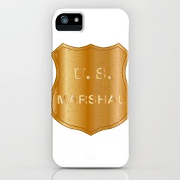 United States Marshal Shield Badge iPhone Case