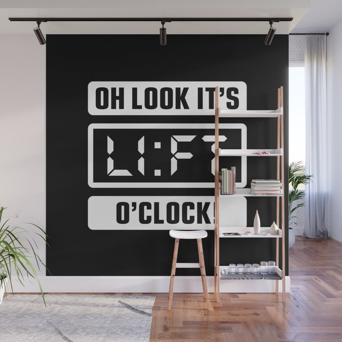 Oh Look Its Lift Oclock Gym Time Wall Mural By Brogressproject