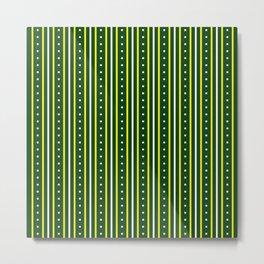 Stripes Pattern 204 (green yellow stripes) Metal Print