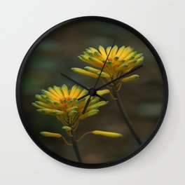 Yellow Blossoms Wall Clock
