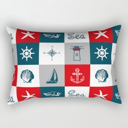 Nautical design 4 Rectangular Pillow