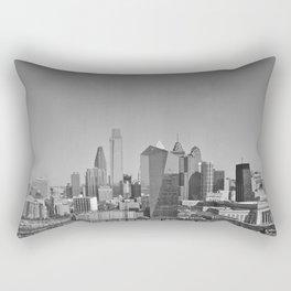 Black and White Philadelphia Skyline Rectangular Pillow