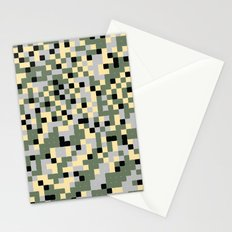 Pixelated Camo Pattern Stationery Cards