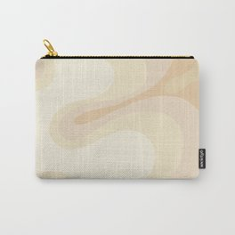 Psychedelic Pattern, Cream, Minimal, Chic Carry-All Pouch