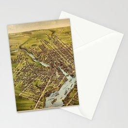 Map Of Bangor 1875 Stationery Cards