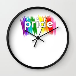 Gay Pride LGBT Rainbow Stripe Awareness design Wall Clock