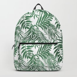 Modern forest green white palm tree greenery Backpack