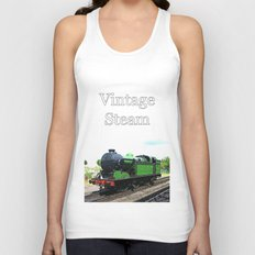 Vintage Steam railway engine Unisex Tank Top