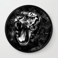 Tiger Head Wildlife Wall Clock