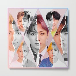 BTS Split Personalities Metal Print