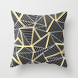 Ab Lines 2 Gold Throw Pillow