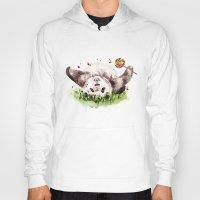 panda Hoodies featuring Panda by Anna Shell