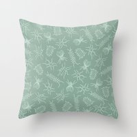 bugs Throw Pillows featuring Bugs by emilia