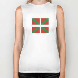 Flag of Euskal Herria-Basque,Pays basque,Vasconia,pais vasco,Bayonne,Dax,Navarre,Bilbao,Pelote,spain Biker Tank