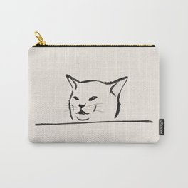 Confused cat meme drawing Carry-All Pouch
