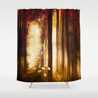 dreams Shower Curtains featuring Dreams by Viviana Gonzalez