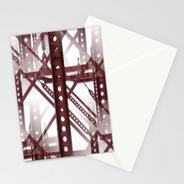 Red Steel Construction Stationery Cards