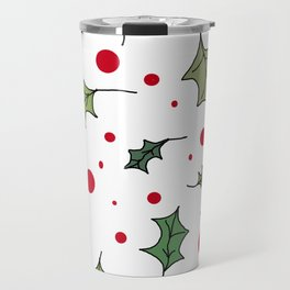 Christmas holly 1 Travel Mug