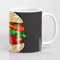 burger Mugs featuring Burger by YusufSangdes