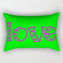 Love & Flashy Colors Rectangular Pillow